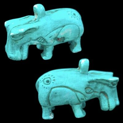 Beautiful Ancient Egyptian Blue Hippo Amulet 300 Bc (16)