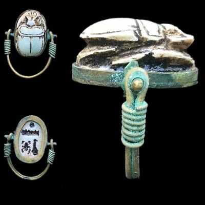 Beautiful Ancient Egyptian Scarab Ring 300 Bc (3)