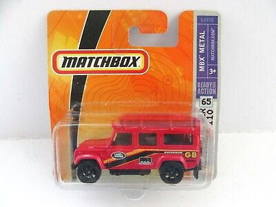 Matchbox Superfast 1997 Land Rover Defender 110 - Red - Mint/Boxed