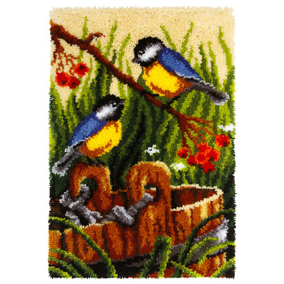 Orchidea Latch Hook Rug Kit - Blue Tits - Needlecraft Kits - FREE UK P&P