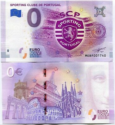 SPORTING Clube de Portugal 0 Euro Souvenir Note 2018 Series 1 Soccer Football