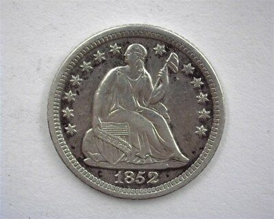 1852-O Seated Liberty Silver Half Dime About Uncirculated  Better Date!