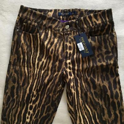 43ae6f897e6c POLO GOLF RLX Ralph Lauren Leopard Print Five Pocket Womens Pants 0 NWOT   198