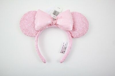 Disney Parks Minnie Mouse Millennial Pink Sequined Ears Headband (NEW WITH TAGS)