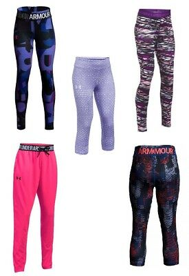 New Under Armour Girls' HeatGear Capris Leggings SIZE XS,S,M,L,XL MRSP:$40.00