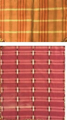 Beautiful Rare 18th and 19th C. French Woven Silk and Cotton Ikat Fabrics (2534)