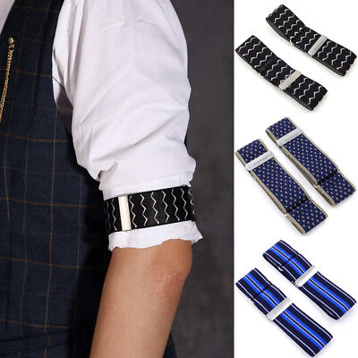 Men Elastic Shirt Sleeve Garters Strap Adjustable Armband Sleeve Cuff Holder Hot