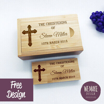 Personalised Wooden Bamboo USB & Wood Box Gift 32GB