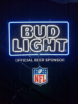 8229a42b BUD LIGHT Nfl All Teams Rare Neon Light Sign - $500.00 | PicClick