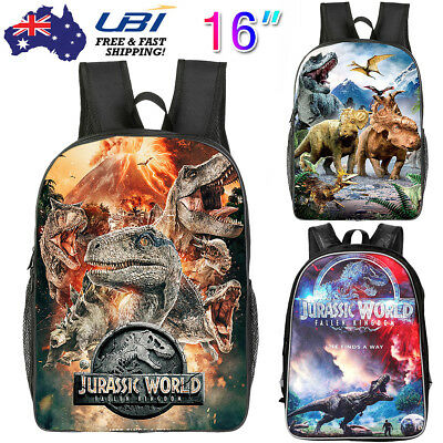 Boys Backpack Jurassic World School Bag Dinosaur Park Shoulder Rucksack Hot