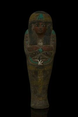 EGYPTIAN ANTIQUE EGYPT PHARAOH Queen CLEOPATRA SHABTI Ushabti Statue Stone BC