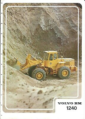 Equipment Brochure - Volvo BM - 1240 - Wheel Loader - c1977 (E4827)