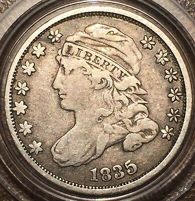 1835 Capped Bust Silver Dime - about VF