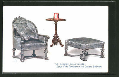 AK The Queens Doll House, Some of the furniture in the Queen´s Bedroom 1925