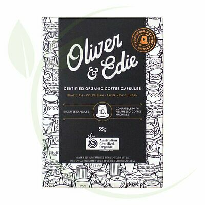 OLIVER & EDIE - Coffee Capsules Certified Organic 10 Pods