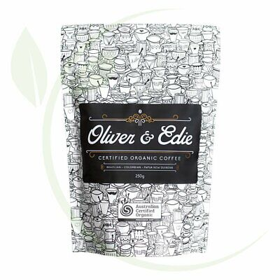 OLIVER & EDIE - Coffee Beans Certified Organic 250g