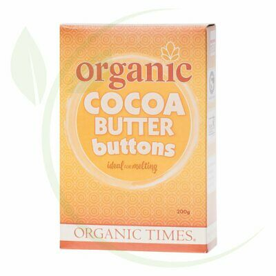 ORGANIC TIMES - Cocoa Butter Buttons 200g