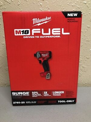 MILWAUKEE 2760-20 M18 FUEL SURGE 1/4 In. Hex Hydraulic Impact Driver (NEW)