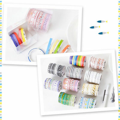 10 Rolls/Set Cute Washi Tape DIY Decorative Scrapbooking Planner Masking Tape