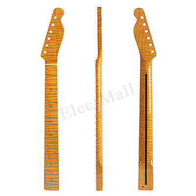 Tiger Flame Maple Electric Guitar Neck 21 Fret Fretboard for ST Electric Guitar