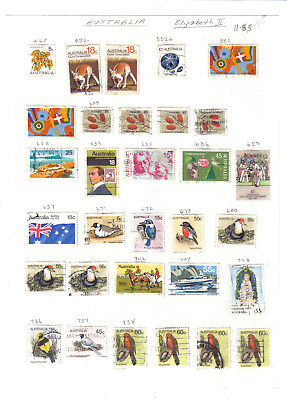 (AP108)Australia.63 stamps on two old album pages.