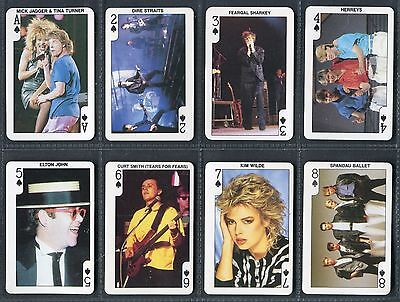 """DANDY GUM 1987 """"ROCK n BUBBLE POP STARS"""" P/C INSET TRADE CARDS - PICK YOUR CARD"""