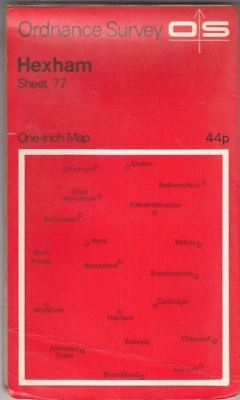 Hexham. One-inch Map of Great Britain Sheet 77. 1:63360 Seventh Series