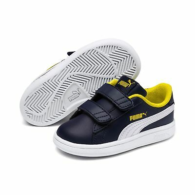 Puma Smash FUN SD V Inf Low-Top Kinder Schuhe Sneaker Leder 365174 Peacoat