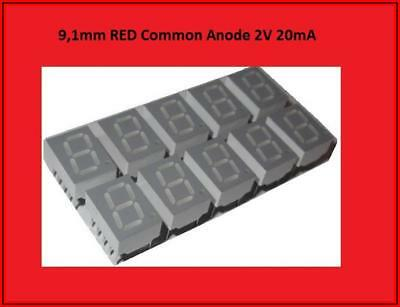 HDSP-C3E1 LED Display Anzeige 7 Segment 1 Digit  Common Anode Rot  10x