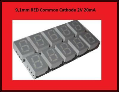 HDSP-C3E3  LED Display Anzeige 7 Segment 1 Digit  Common Cathode Rot  10x