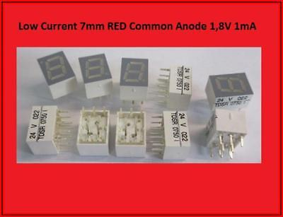 TDSR 0750  LED Display Anzeige 7 Segment   Common Anode Rot  10x