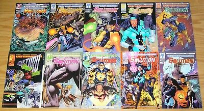 the Solution #0 & 1-17 VF/NM complete series - signed - malibu ultraverse set