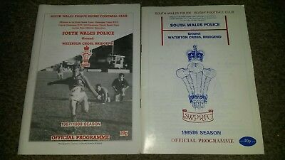 South Wales Police Rugby Programmes