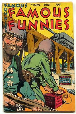 Famous Funnies #208 1953- Korean War Army Engineer cover VG