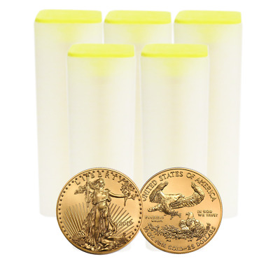 Lot of 200 - 2019 $25 American Gold Eagle 1/2 oz Brilliant Uncirculated 5 Full R