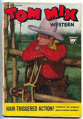 Tom Mix Western #2 1948- Fawcett photo cover comic VG+