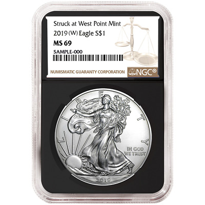 2019 (W) $1 American Silver Eagle NGC MS69 Brown Label Retro Core