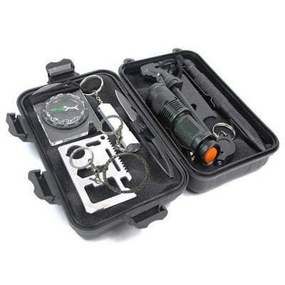 Survival Kit Military Tactical Emergency Gear Outdoor Tool Camping Hiking Sport