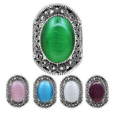 Wholesale Lot 10pcs Opal Bead Ring Vintage Look Color Size Mixed Fashion Jewelry