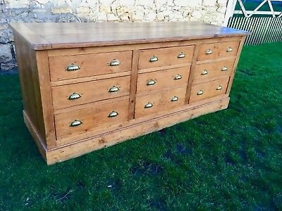 STUNNING! Antique Victorian & Later Waxed Pine TRIPLE chest of drawers sideboard