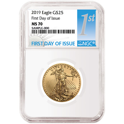 2019 $25 American Gold Eagle 1/2 oz. NGC MS70 FDI First Label