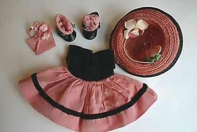 Vintage Vogue Ginny Doll Clothing Medford Tagged Dress Hat Center Snap Shoes #2