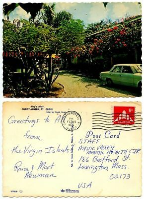 United States 1972 Postcard King's Alley, Christiansted St. Croix Virgin Islands