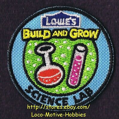 LMH PATCH Badge  2011 SCIENCE LAB Test Tube Beaker LOWES Build Grow Kids Clinic