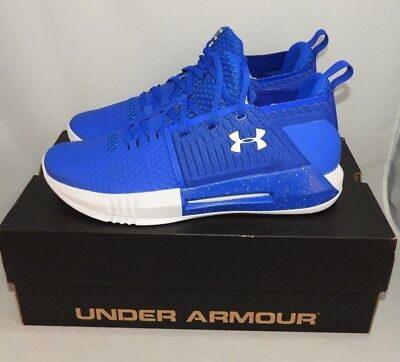 400c141717e9 Mens Under Armour Shoes UA Drive 4 Low Royal Blue White Size 12.5 NEW IN