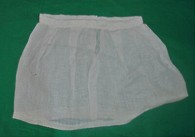 "1940S 1950S VINTAGE  DOLL CLOTHES Sheer White Skirt 10"" Waist"