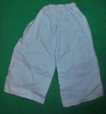 1940S 1950S VINTAGE  DOLL CLOTHES Blue Flannel Pajama Bottoms