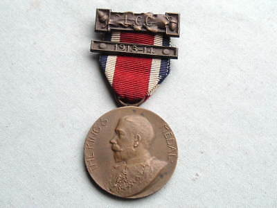 Old 1913 1914 Ww1 Era English British Kings Medal From London County Council