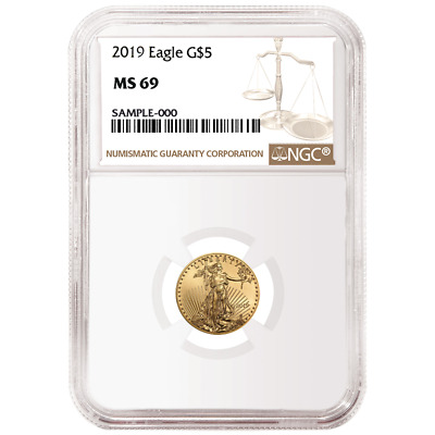 2019 $5 American Gold Eagle 1/10 oz. NGC MS69 Brown Label