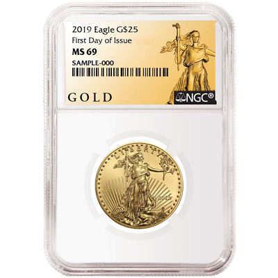 2019 $25 American Gold Eagle 1/2 oz. NGC MS69 FDI ALS Label
